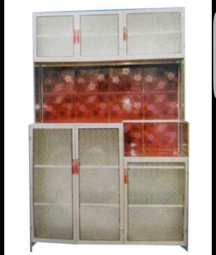 Lemari Dapur Rak Piring 3 Pintu Magic Com Keramik Murah