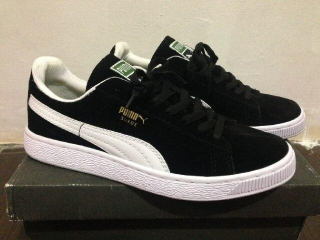 Jual Sepatu casual skate pria puma suede black white ( PREMIUM ... a33f421f1c
