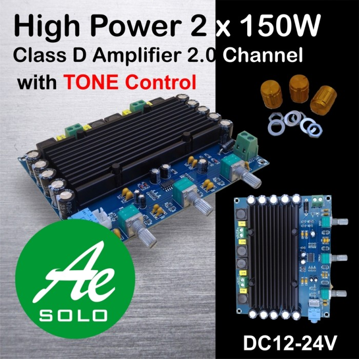 Jual 2x150W High Power Class D Digital Power Amplifier Board Kit Module -  Kab  Sukoharjo - Anugrah Solo | Tokopedia