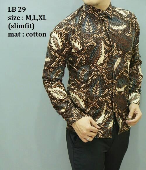 Jual Baju Kemeja Pria Batik Modern Edisi Imlek Lengan Panjang Lb 29. Daftar  Harga Kemeja Pria Batik Berkualitas Terbaru Cem399 Bulan d3aa543113