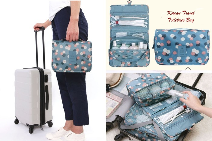 Korean Travel Toiletries Bag - Tas untuk tempat kosmetik ...