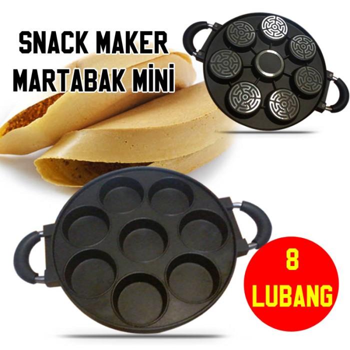harga Snack maker 8 lubang datar / cetakan terang bulan kue lumpur Tokopedia.com