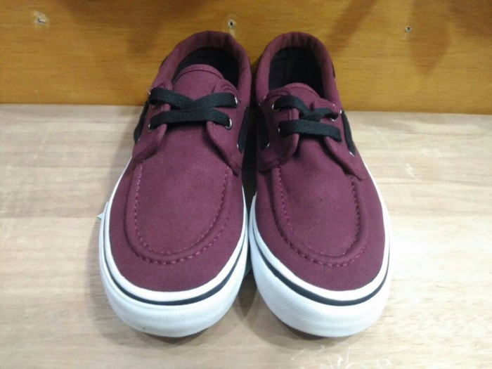 sneakers for cheap b646a 5a3c3 Sepatu Vans Zapato Japato Red Maroon Merah  Marun . 73067cd3d8