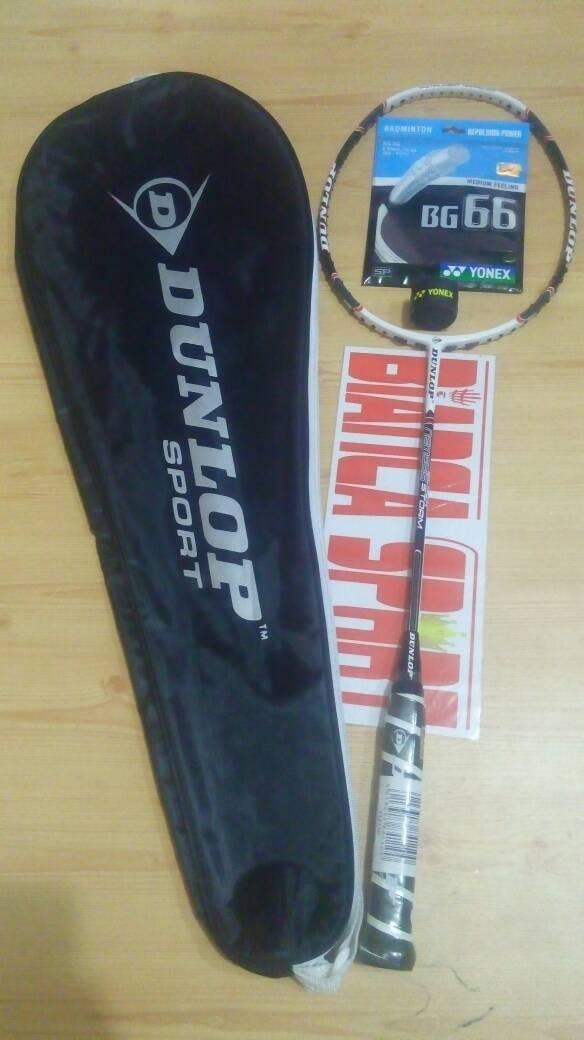 harga Raket badminton original dunlop nemesis black storm Tokopedia.com