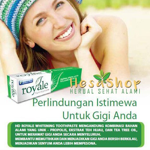HDI Royale Whitening Toothpaste 70 Gram High Desert HD