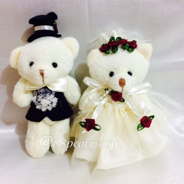 harga Boneka wedding standing 15 cm teddy bear Tokopedia.com