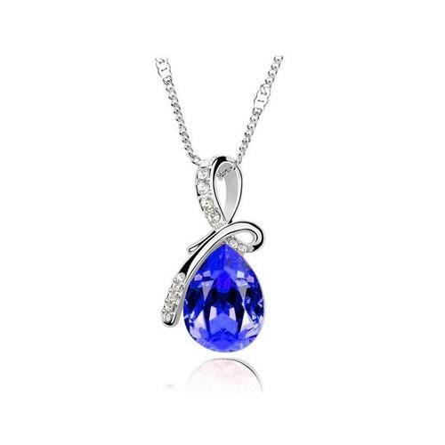 Jual Aksesoris Liontin Wanita Royal Blue Silver Color Vn002-Rbl Harga Promo Terbaru