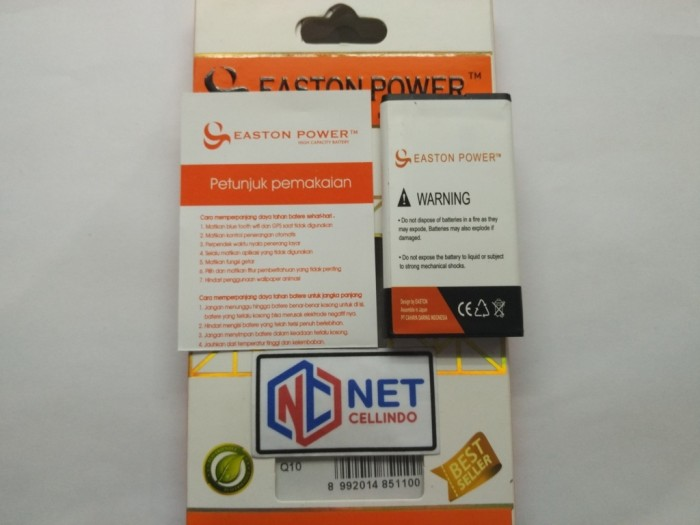 harga Baterai / battery / batre blackberry bb nx1 q10 easton double power Tokopedia.com