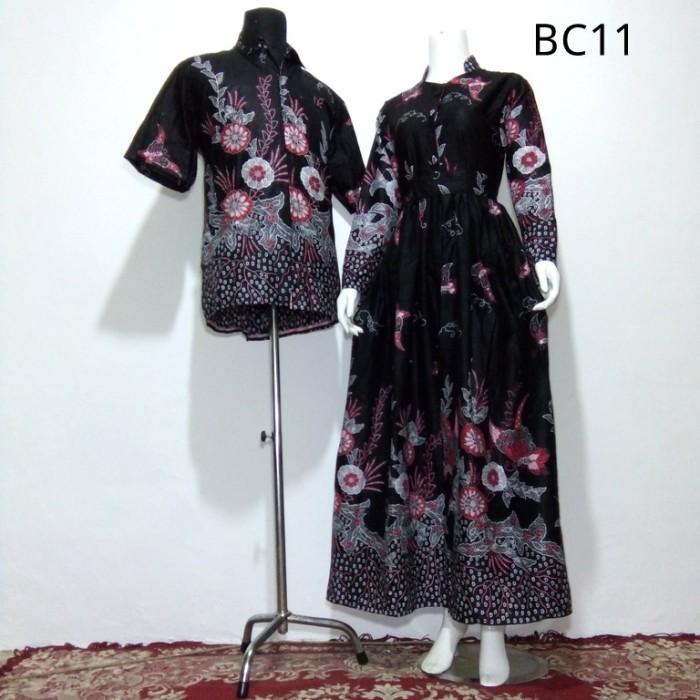 Jual Baju Batik Couple Model Gamis Sarimbit Zakiya Merah Batik
