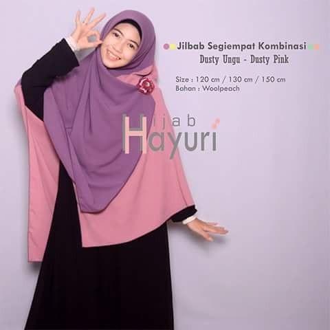 Jual Jilbab Segiempat Kombinasi Dusty Ungu Dusty Pink Kab Kudus Jual Jilbab Muslim Indo Tokopedia