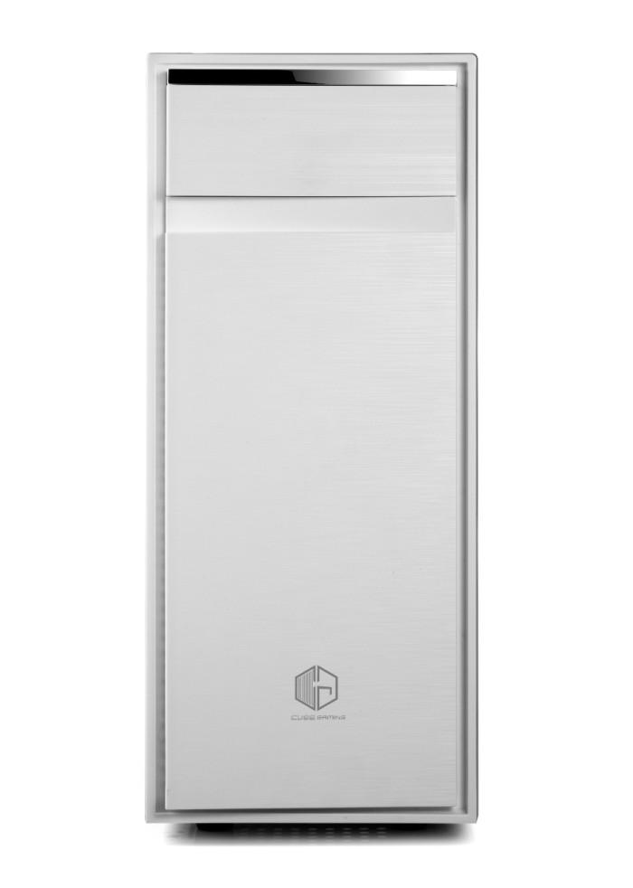 cube gaming weiss white full acrylic window 12cm led fan dust filter