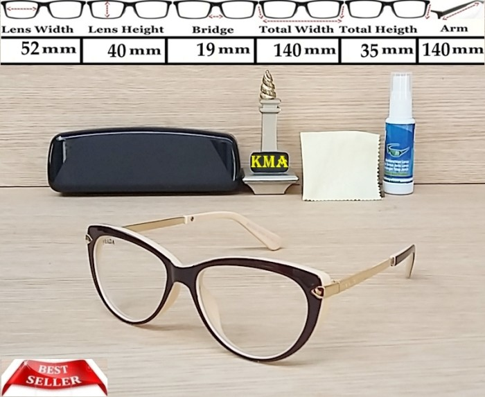 Jual frame kacamata minus PRADA frame kacamata PRADA cat eye korea ... 566ef96220