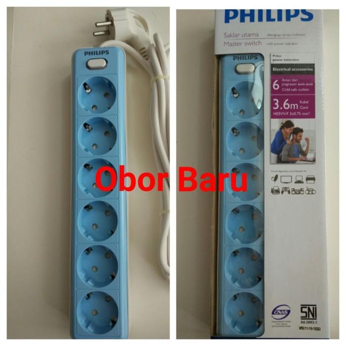 harga Philips Stop Kontak 6 Lubang 3.6m Psk6l36 - Blue Tokopedia.com