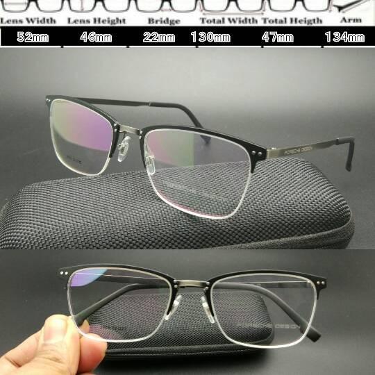Frame kacamata porsche design 2909 black metal 4161b4ac13
