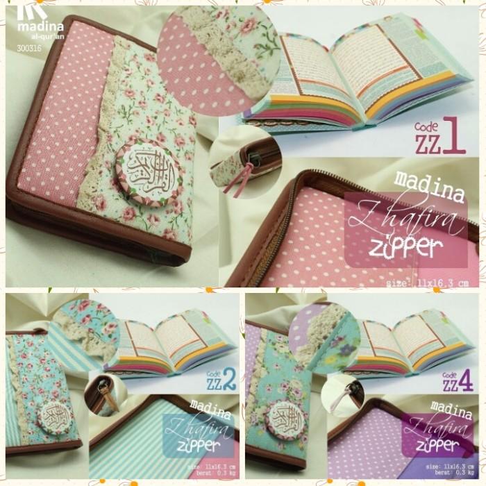 GRATIS ONGKIR + TASBIH Al Quran / Alquran Rainbow Zhafira Zipper ZZ 09