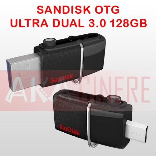 harga Otg + flashdisk 2in1 sandisk ultra dual 128gb hitam Tokopedia.com