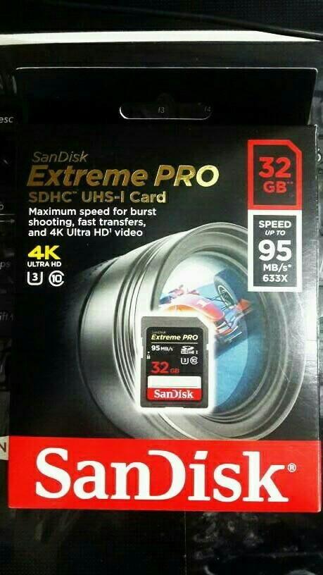 harga Sandisk sdhc extreme pro 32gb 95mb/s / sd card sandisk 32gb Tokopedia.com