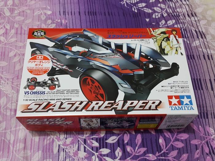 Tamiya mini 4WD Slash Reaper Clear Orange Body # 95219