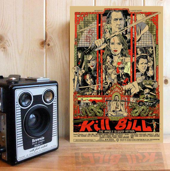 Jual Dekorasi Movie Poster Kill Bill Jakarta Barat Love Me Romantic Tokopedia