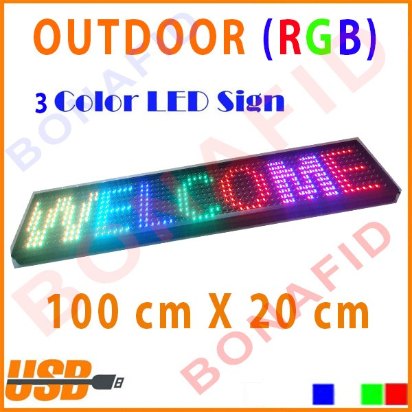 harga Rgb outdoor running text led display 130cm x 20cm moving sign Tokopedia.com