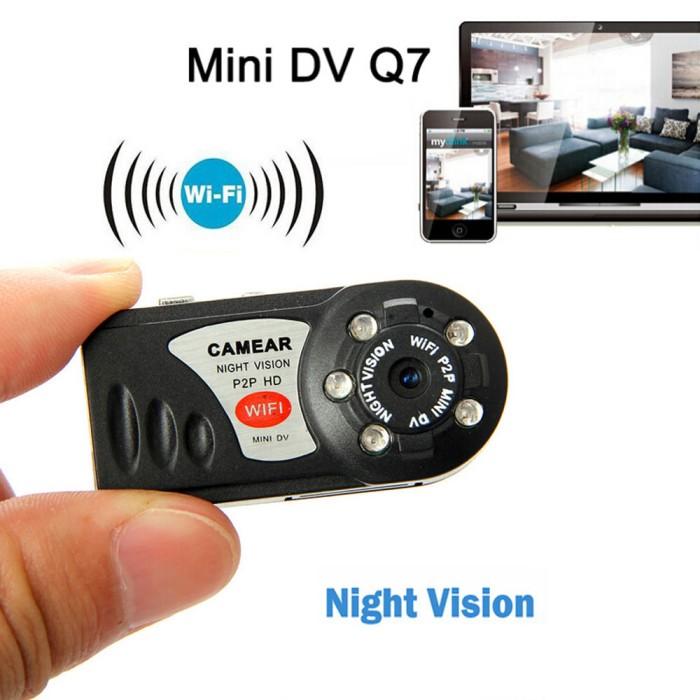 harga Mini dv wifi q7 with night vision/ car dvr/ ip camera/ action camera Tokopedia.com