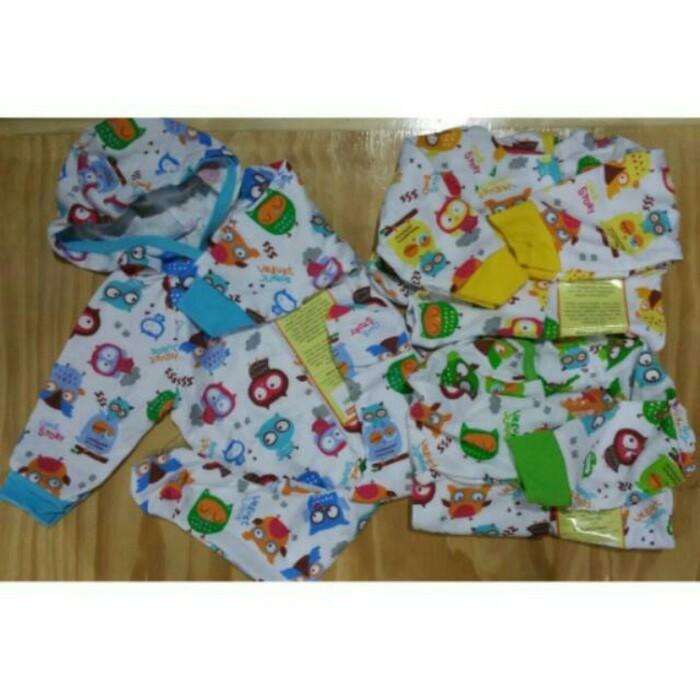 SLEEPSUIT TOPI VELVET OWL/jumper/baju bayi lengan panjang/kaos