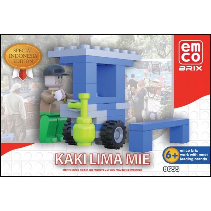 Emco Brix Lego Special Indonesia Edition Kaki Lima MIE