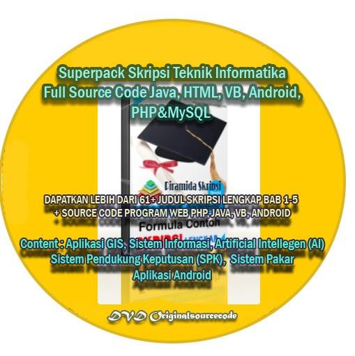Jual Superpack Skripsi Teknik Informatika Source Code Vb Php