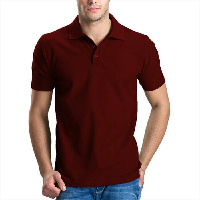 Jual Kaos Polo Shirt Polos Merah Maroon Grosir Banyak Warna