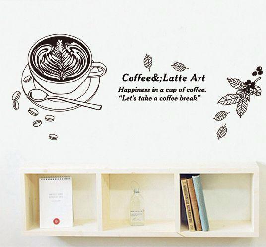 jual wall sticker / stiker dinding coffee art jm8380 03 - dki