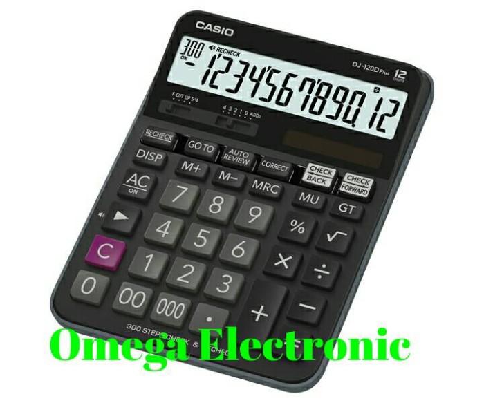 Foto Produk Casio Calculator DJ 120D Plus - Check & Correct Kalkulator Desktop dari Omega Electronic