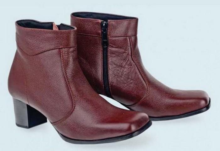 harga Sepatu boots wanita kerja/kantor formal/boot cewek kulit brc1 Tokopedia.com