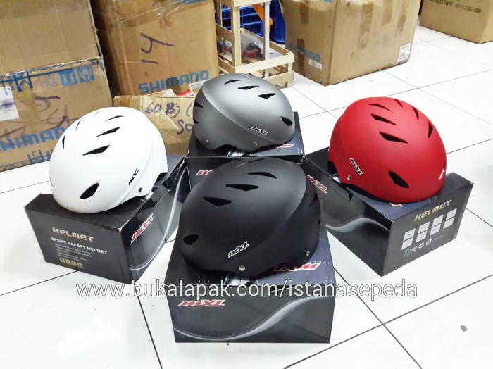 harga New helm sepeda bmx skate dj mexel mxl sk12 model batok hitam dof Tokopedia.com