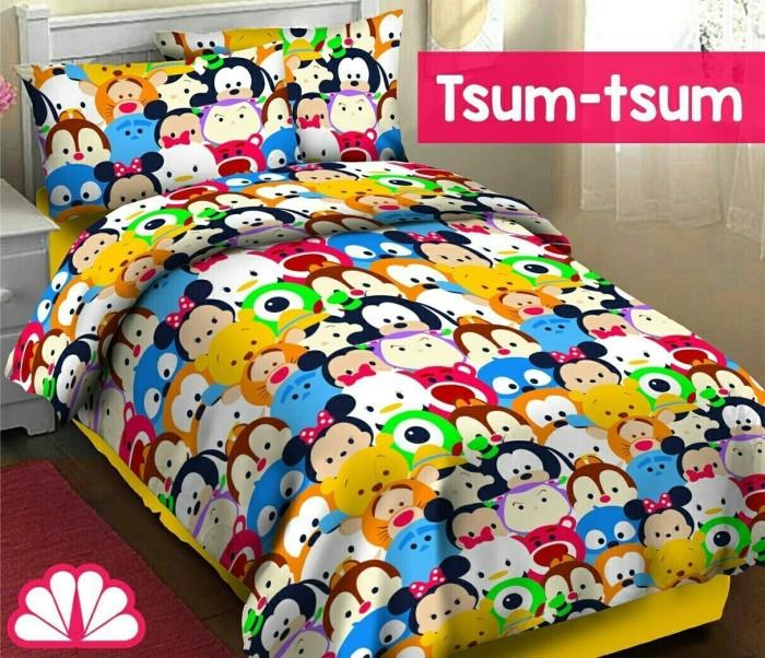 harga Sprei katun karakter tsum tsum, keren unik, uk 120x200 fortuna, f9 Tokopedia.com