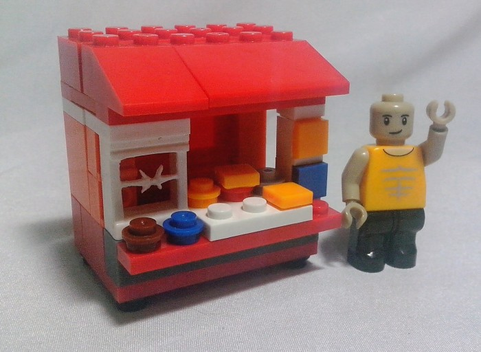 Emco Brix Lego Special Indonesia Edition Kaki Lima WARUNG