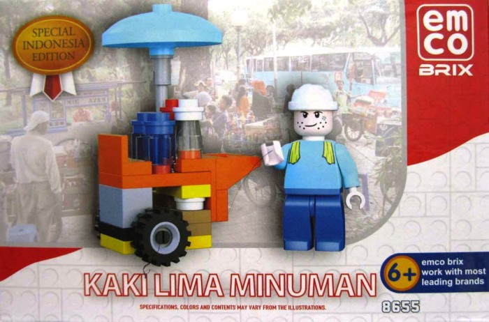 Emco Brix Lego Special Indonesia Edition Kaki Lima MINUMAN .