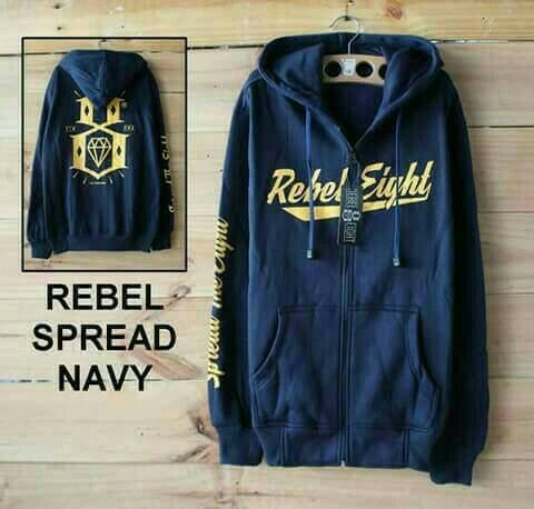 harga Jaket rebel eight navy Tokopedia.com
