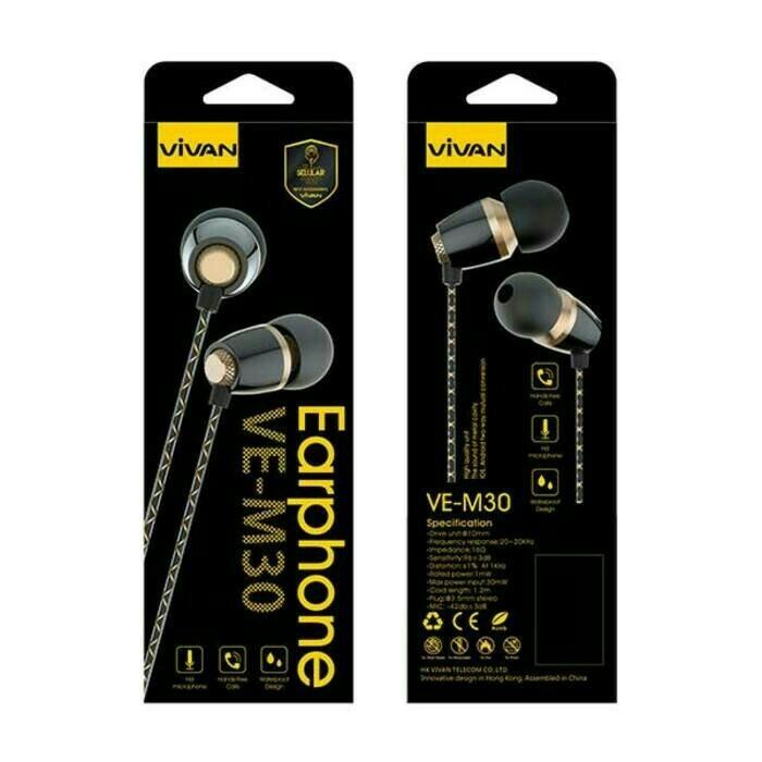 harga Handsfree / headset vivan ve-m30 original Tokopedia.com