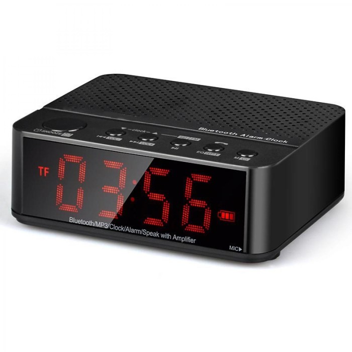 harga Jam meja digital, radio fm, jam weker, bluetooth speaker mini - kd-66 Tokopedia.com