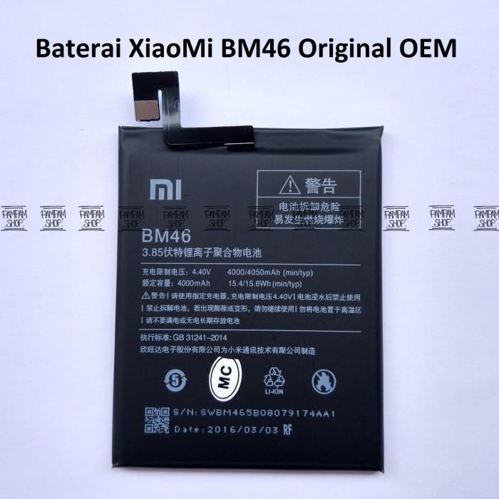 harga Baterai handphone redmi xiaomi note 3 bm46 original oem   bm 46 hp Tokopedia.com