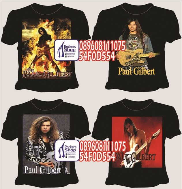 harga Kaos paul gilbert gitaris mr. big ibanez clinic guitarist rock gitar Tokopedia.com