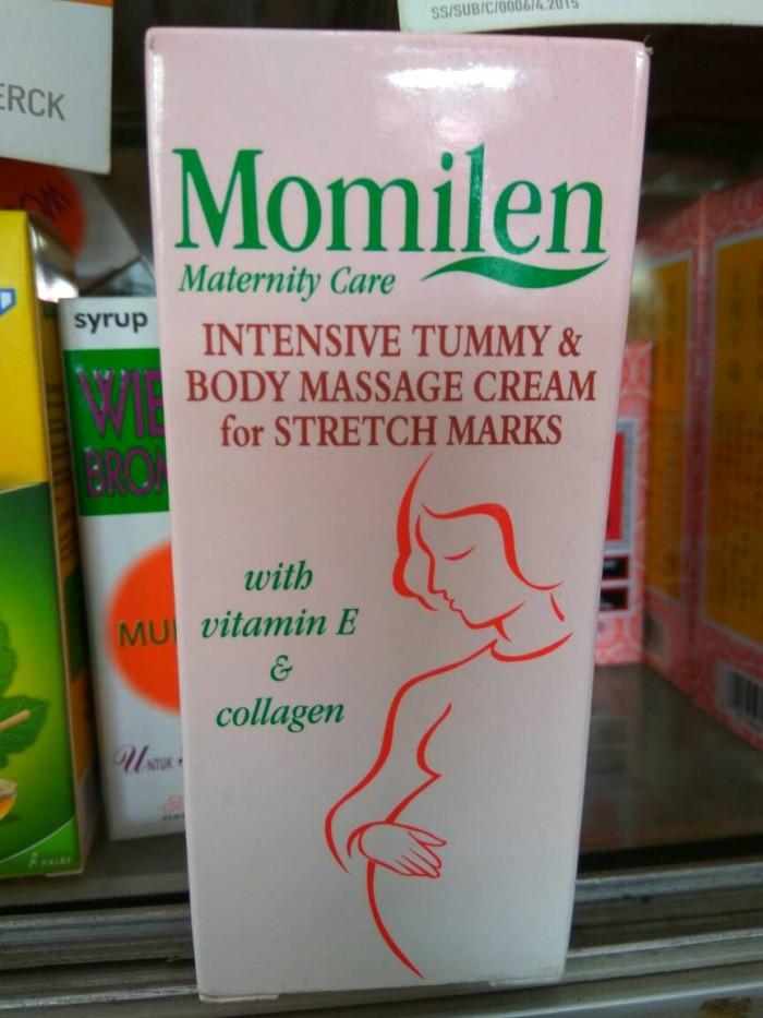 harga Momilen intensive tummy & body massage cream for stretch marks 30 gr Tokopedia.com