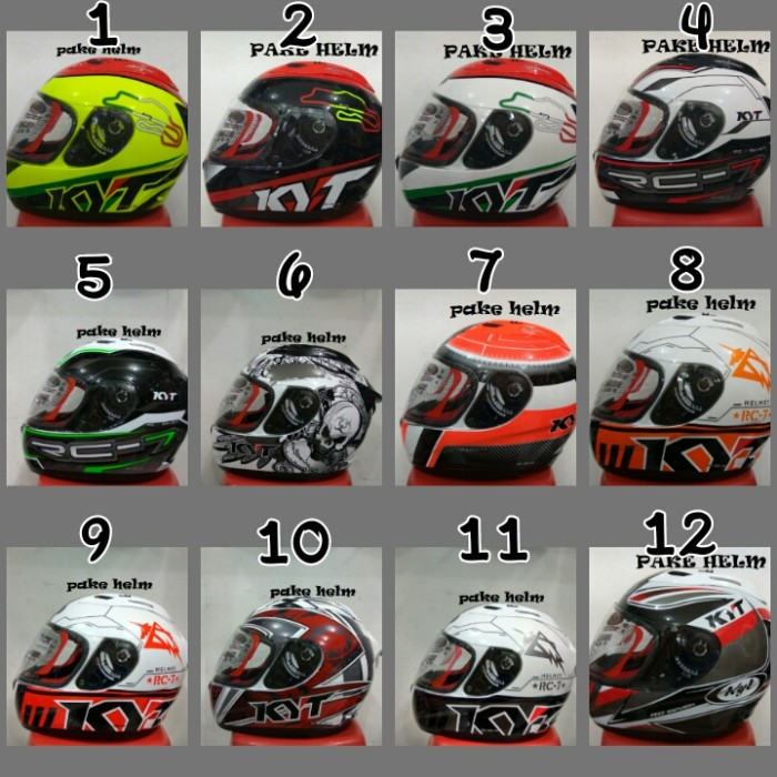 harga Helm kyt rc 7 rc seven motif full face rc7 Tokopedia.com