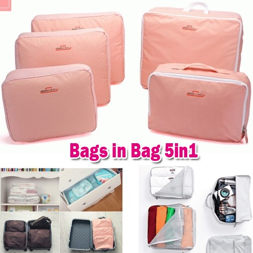 Bags in Bags 5 in 1 Travel Organizer ( Dapat 5 Bags )