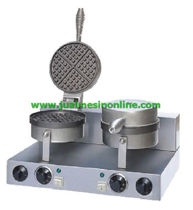 harga Mesin pembuat waffle listrik petak 4 cetakan / waffle baker maker doub Tokopedia.com