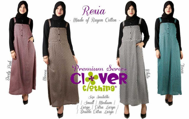 Overall Rexia - Clover Clothing /Overall Muslim/Gamis Muslim