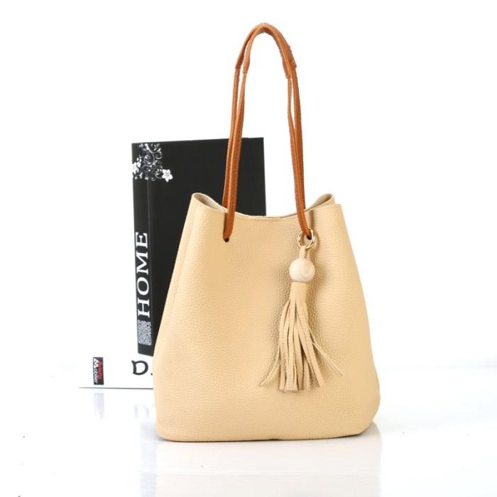harga Tas wanita import c91729 2in1 bucket bag kulit jeruk rumbai korea zara Tokopedia.com