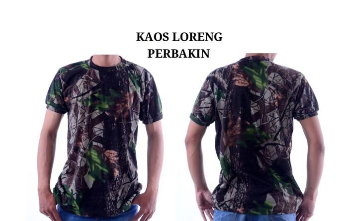 harga Kaos baju tshirt loreng   perbakin lengan pendek Tokopedia.com