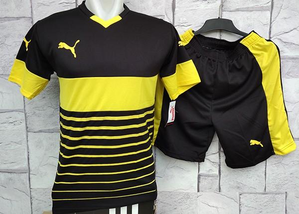 Jual Setelan Baju Puma Evo Hitam Kuning Kaos Olahraga Kostum Futsal ... 498da3e0ad