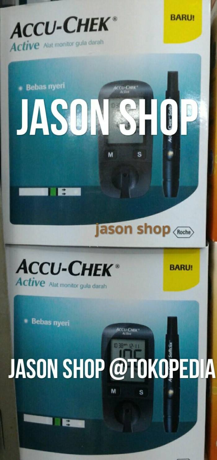 Accu Chek Active Kit Alat Cek Gula Darah Hitam Daftar Check Monitor Bebas Nyeri Roche Glucose